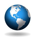 Globe. With abstract continents of North and South America Stock Photo