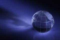 GLOBE. Glass globe with shadow and refection Royalty Free Stock Photos