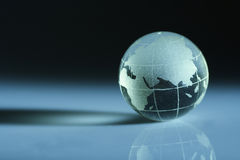 Globe. A crystal globe is showing the Africa,india and other countries Stock Image