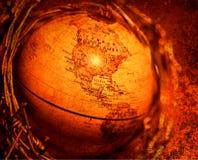 Globe. Close up of old globe Stock Image