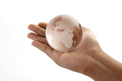 Globe. The world in the hand Royalty Free Stock Photos