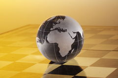 Globe. Crystal globe is showing the south Africa Royalty Free Stock Photos