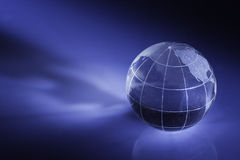 Globe. Shiny crystal globe showing the world Royalty Free Stock Images