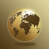 Globe. With map of the continents Royalty Free Stock Photography