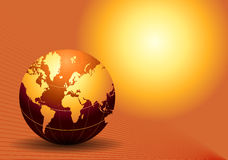Globe. Computer generated digital world globe Stock Photos
