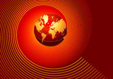 Globe. Computer generated digital world globe Stock Photo
