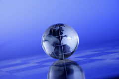 Globe. Crystal lobe showing the world Stock Photos