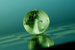 Globe. Crystal lobe showing the world Royalty Free Stock Images