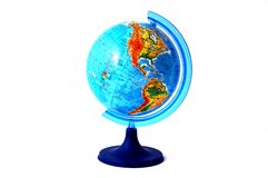 Globe. On a white background Royalty Free Stock Photos