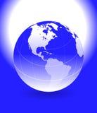 Globe. Computer generated digital colourful world globe Stock Photography