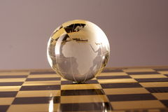 Globe. A crystal globe is showing the Africa,india and other countries Royalty Free Stock Image