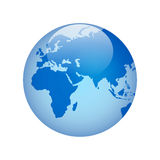 Globe with. Glass effect in blue.  AI . Size and color can be changed Royalty Free Stock Photo