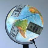 Globe. Money around the world royalty free stock images