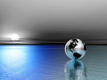 Globe. 3d. Soft blue colors Stock Photo