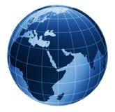 globe 3d dans le bleu Photo stock