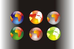 Globe. Vector illustration with globe of the Earth in different positions Royalty Free Stock Photography
