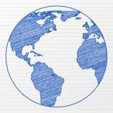 Globe 5 du monde de retrait Images libres de droits