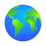 Globe. Illustration of world  globe Royalty Free Stock Photos