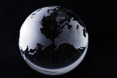 Globe. World globe isolated in black background Royalty Free Stock Image