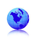 Globe. Computer generated digital world globe Stock Images