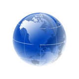 Globe. Isolated digital globe with nice glossy effect Stock Photography