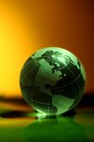 Globe. World map with color royalty free stock images
