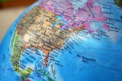 Globe. USA royalty free stock image