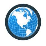 Globe. Computer generated digital world globe stock illustration