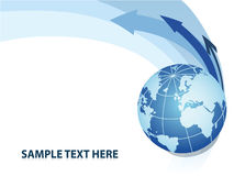 Globe. Abstract background with globe. Vector illustration Royalty Free Stock Images