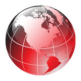 Globe. Red vector glossy globe - computer generated Royalty Free Stock Photography