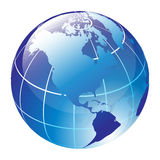 Globe. Blue vector glossy globe - computer generated Stock Photos