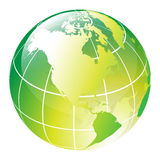 Globe. Green vector glossy globe - computer generated Royalty Free Stock Images