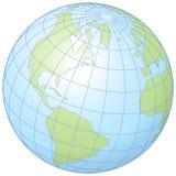 Globe. Simple graphic illustration of the globe showing latitude and longitude stock illustration