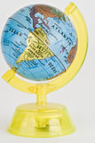 Globe. With the continent america in yellow holder Royalty Free Stock Images