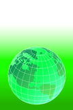 Globe. Computer generated digital globe like background Royalty Free Stock Photo