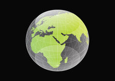 Globe. In black background vector Royalty Free Stock Photography