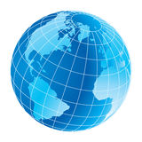 Globe. Computer generated digital globe like background Royalty Free Stock Photos