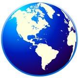 Globe. Wonderful detail of globe designed by illustration Stock Photo