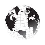 Globe. Digital globe on isolated background Stock Image