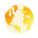 Globe. Colorful digital globe on isolated background Stock Images