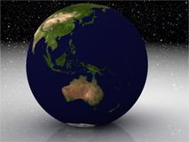 Globe. 3d concept of Photorealistic Earth globe Stock Photography