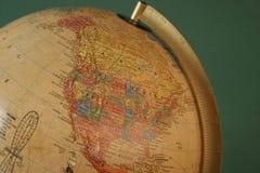Globe. North America stock photo