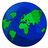 Globe. Illustration of the planet Royalty Free Stock Photo