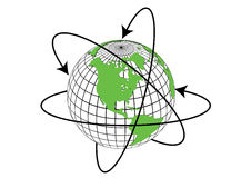 Globe. Arrow  equator navigate sphere Stock Images