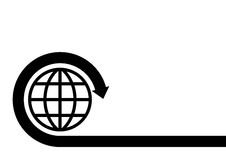 Globe. Computer generated  world globe symbol Stock Image