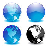 Globe. Digital globe kit on white background Stock Photos