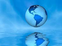 Globe Above Water royalty free stock images