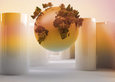 Globe on abstract background Stock Photo