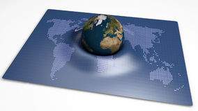 Globe on an abstract card Royalty Free Stock Photography