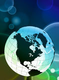 Globe on Abstract Color Background Royalty Free Stock Image
